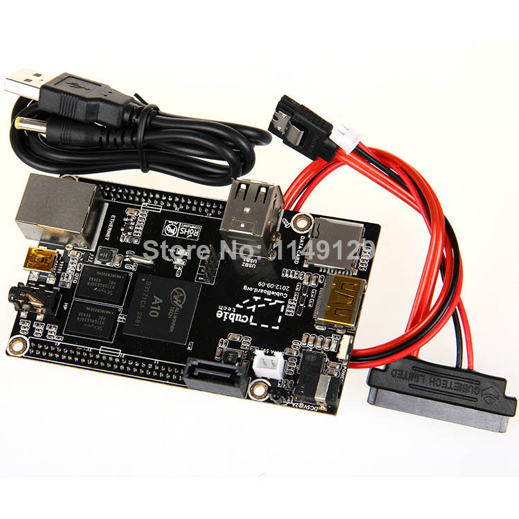ФОТО New Original Cubieboard Allwinner A10 1GBARM Cortex-A8 DDR3 kit Compare with Raspberry Mini PC HDMI Ethernet Nand Flash USB