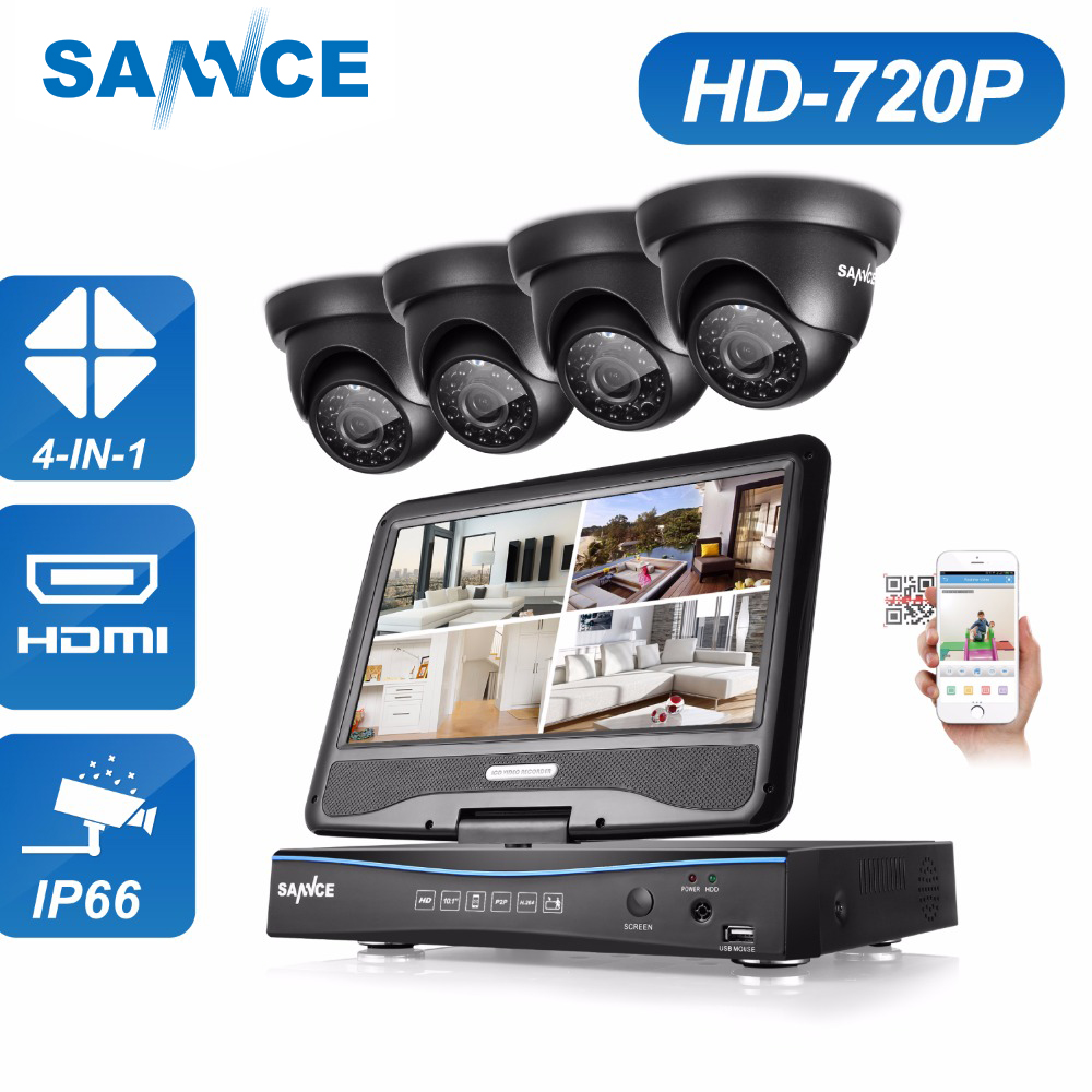 SANNCE 8CH 4 in 1 TVI AHD HDMI DVR 720P 1.0 MP IR Outdoor Weatherproof CCTV Camera Home Security System Video Surveillance Kits annke 8ch 5 in 1 dvr kits surveillance camera hd 720p tvi cctv security system 1080n dvr kit 1280tvl outdoor weatherproof video