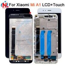 Xiaomi Mi A1 MiA1 Mi5X Mi 5X lcd 디스플레이 터치 스크린 디지타이저 Xiaomi Mi A1 LCD 용 프레임 교체 부품
