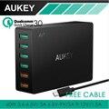 AUKEY Multi USB Зарядное Устройство 6 Порта USB Путешествия Универсальный Быстрое зарядное Устройство для Samsung LG xiaomi iPhone iPad & наиболее телефон