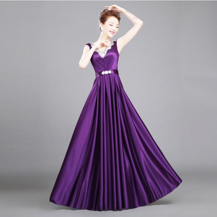 Fantástico Vestidos De Color Púrpura Oscuro Damas De Honor ...
