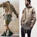 Para hombre hiphop color de la arena ripped denim chaquetas de marca famosa seigner ropa streetwear moto apenada destruido jean chaquetas hombres