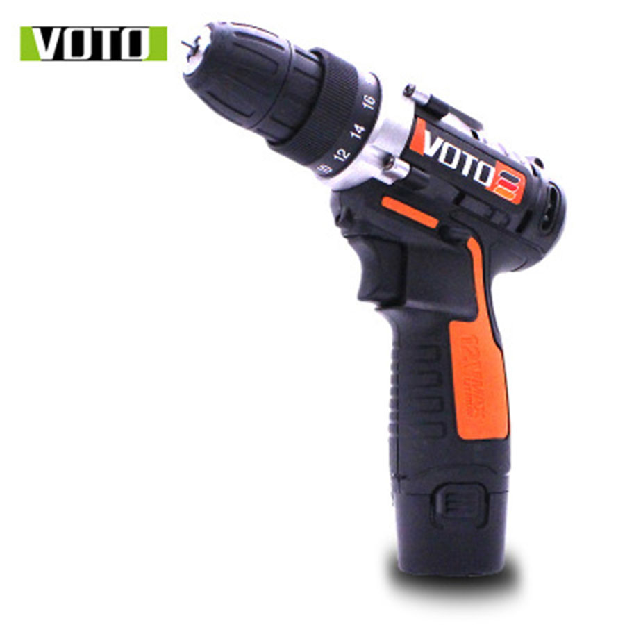 VOTO Battery Rechargeable Cordless Drill Electric Screwdriver Set Lithium Power Tools Screw Gun Driver Industry Orange VT 2018 цены онлайн