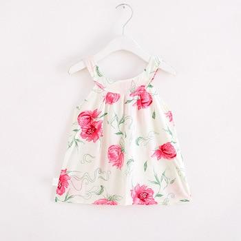 Baby Girl Dress Summer Kids Dress For Girls Clothes Fruit Printed Princess Sleeveless Sling beach princess Dresses