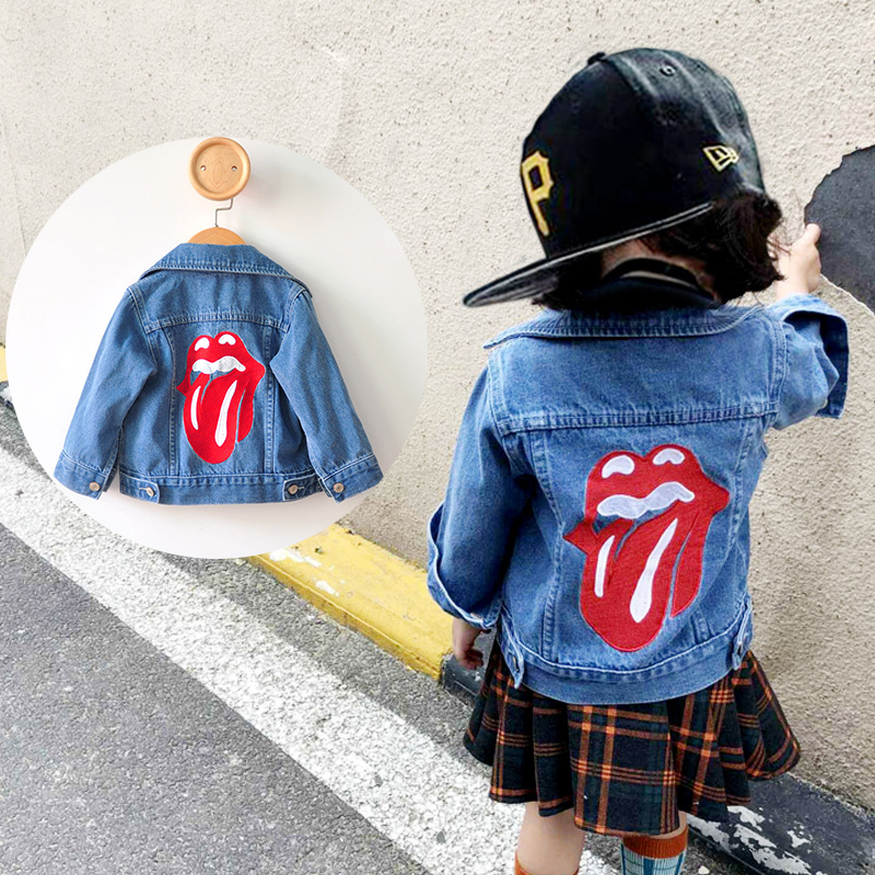 2018 Fashion Baby Jeans Jackets For Girls Denim Jacket Embroidery Boys Jeans Coat Autumn Winter Children Outerwear Coat white jeans jacket for girls denim coat spring autumn kids ripped jeans coat for boys denim coat children jackets and coat