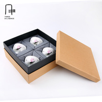 Kraft Paper Gift Box For Cup Teapot Package Packing Box Cardboard Gift Box With Lid