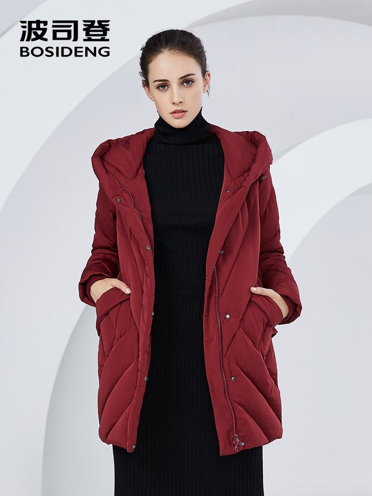 Bosideng 겨울 새로운 다운 코트 여성 90% 오리 자켓 후드 솔리드 컬러 thicken long outwear 플러스 사이즈 방수 b80141030b-에서다운 코트부터 여성 의류 의  그룹 1