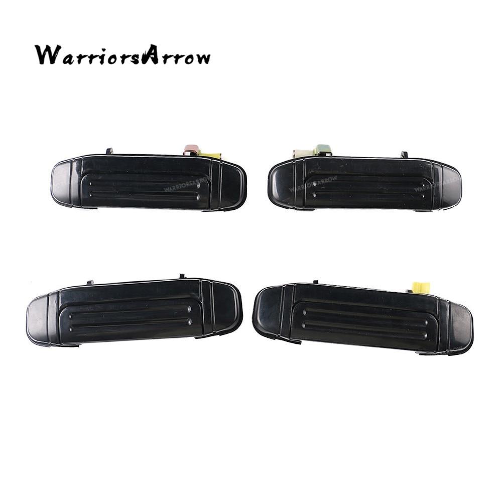 Front Pair Door Handle Black for Mitsubishi Montero Pajero V46 V31 V32 V33