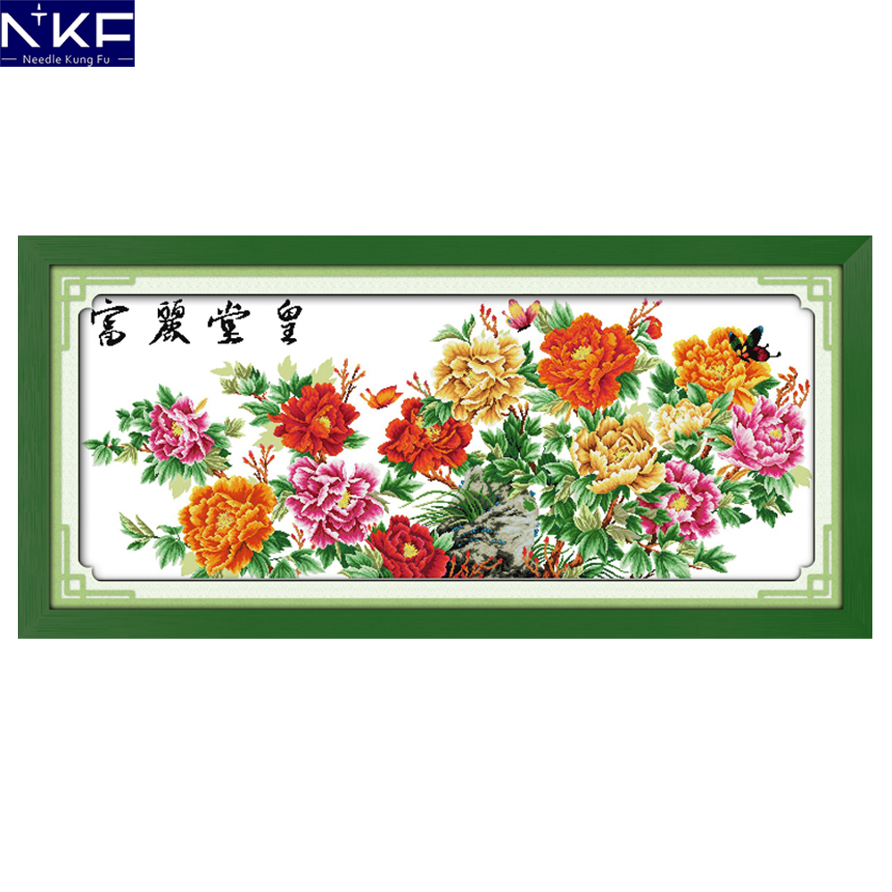 NKF Magnificence Counted or Stamped DIY Kits Handicraft Chinese Cross Stitch Embroidery Packs Cross Stitch Counting Patterns-in Package from Home & Garden    1