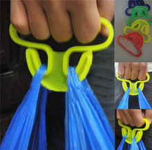 Carry food machine Ergonomic shopping hook rails good helper plastic 9*6cm Weight capacity shopping bag Hooks Random color(China)