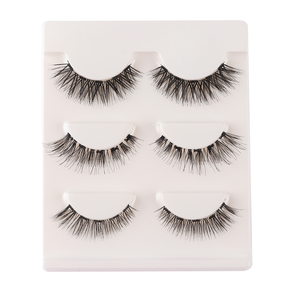 3/5Pairs  Natural Long Wispies Eyelashes Magnetic False Eyelashes Fake Lashes 5 Magnet Eyelash Extension Makeup Tools Handmade