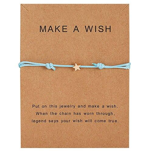 Браслет Wish Card, регулируемый, ручной, плетеный, женский, минималистичный, сердце, корона, круглая нить, Ehthic, браслет, Модные женские ювелирные изделия - Окраска металла: 29