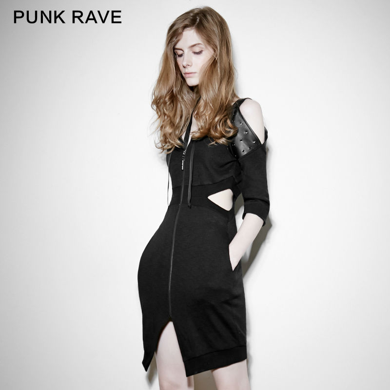 Punk Rave Fashion Casual Vintage Retro Party Victorian Brand Quality Sexy Women Dress S M L PQ106