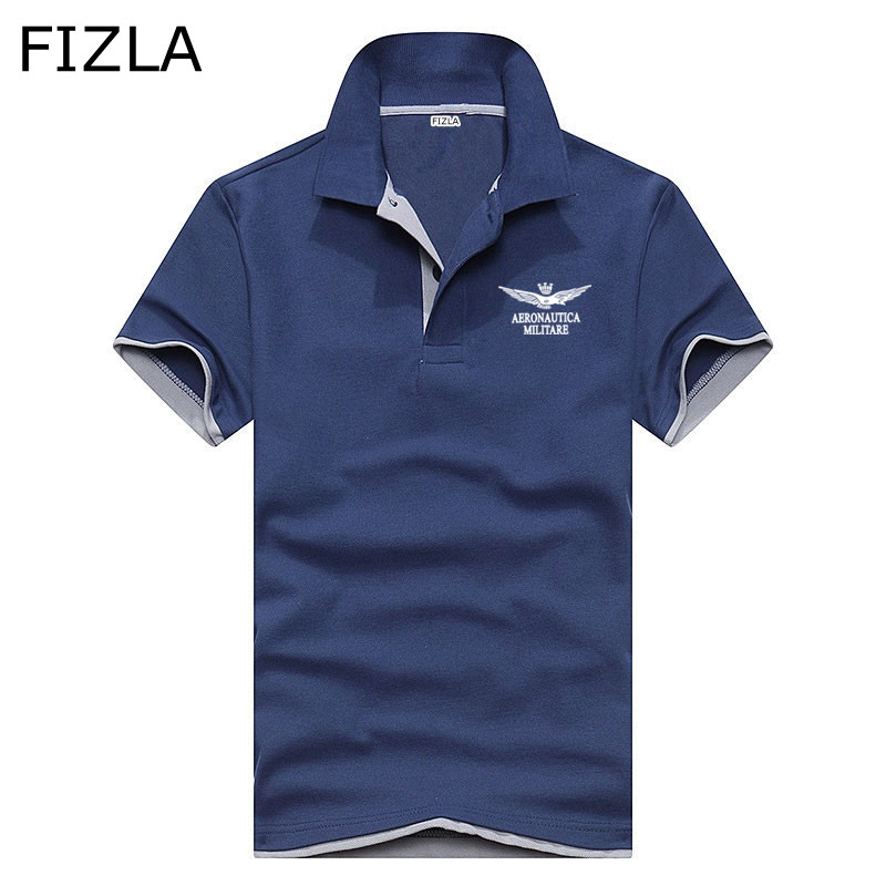 2018High Quality Hot Sale Shirt Air Force Aeronautica Militare   POLO   Shirt Men Short Sleeve Men's Shirts Brand Leisure Shirts