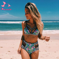 Vender Pacent mujeres trajes de baño push-up traje de baño femenino Sexy Ruffle Bikini mujeres playa 2017 Bikini brasileño conjunto Plavky L XL