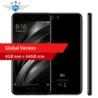 Global Version Xiaomi Mi6 Mi 6 Smartphone Snapdragon 835 Octa Core 6GB 64G ROM 5.15'' 1920x1080 Fast Charge NFC Android 7.1
