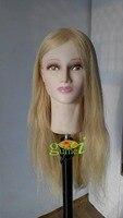 Манекен Manequin косметологии манекен головы 100% Русый Натуральный Человеческие волосы Обучение манекен головы с Человеческие волосы