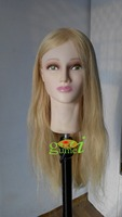 Dummy Manequin Cosmetology Mannequin Heads 100% Blonde Natural Human Hair Training Mannequin Head With Human Hair