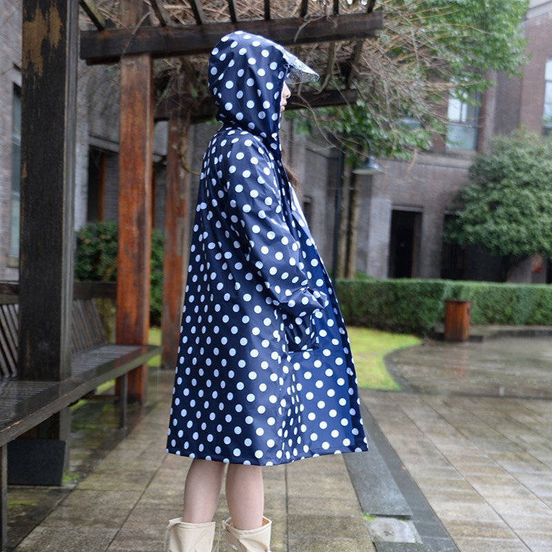 Raincoat women Men poncho waterproof long dots Outdoors Rain Coat Ponchos Jackets Female cloak Chubasqueros Mujer title=
