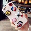 Sibaina lujo nueva marca diy lindo emoji dibujos animados de silicona suave cubierta del teléfono casos para iphone 6 6 s plus 7 7 plus 5 5S sí fundas