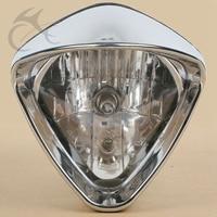 6 Plated Cobra Headlight For Honda Magna250 Steed VLX400/600 Shadow VT750 LP620 Magna 700 Shadow Spirit ACE VT 1100 750