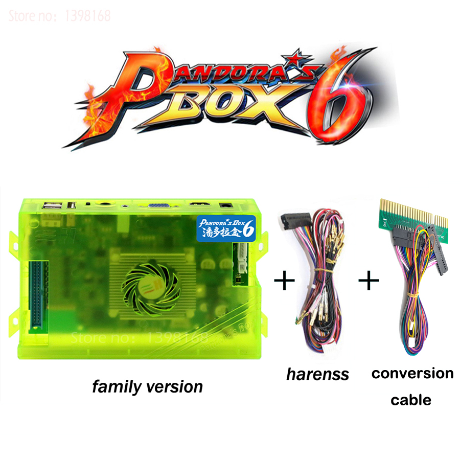 US $65.86 63% OFF|Pandora Box 6 1300 in 1 Family Version Motherboard  Accessories Harness For Pandora's Box console USB HDMI VGA Video game  jac|Coin ...