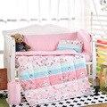 Caliente Llegado cama cuna 100% cottotton 8 unids bebé juego de Cama incluye funda de almohada + hoja de cama funda nórdica con relleno