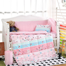 Hot Arrived crib bed 100% cottotton 8pcs baby Bedding set include pillow case+bed sheet+duvet cover  with filling