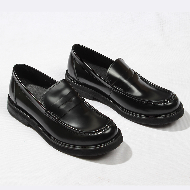 566f40d72d7 British Style Leisure Loafers Men Genuine leather Handmade Black Formal  Suit Dress Shoes Breathable Driving Boats