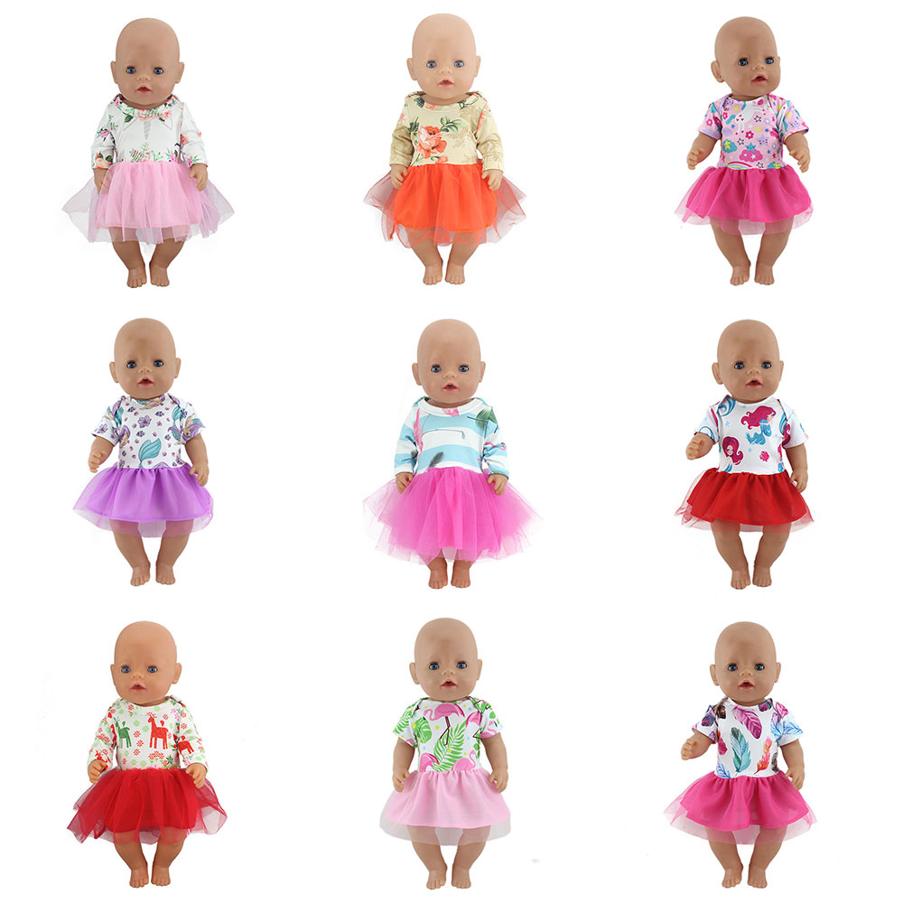 New Doll Dress Fit For 43cm  Baby Doll Doll Reborn Babies Clothes And 17inch Doll Clothes
