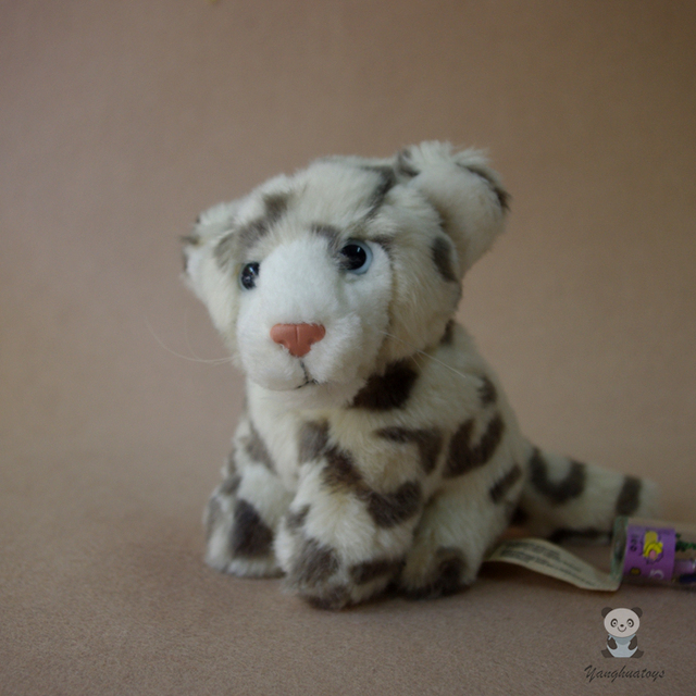 Snow Leopard Baby Doll Toy Simulation Animal Toys Cheetah Dolls