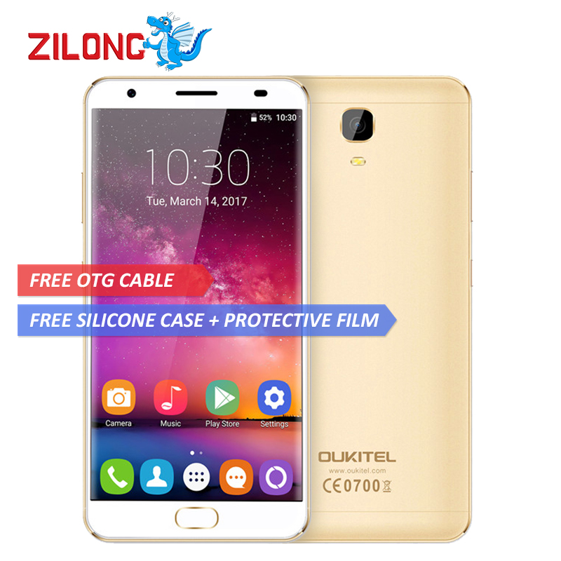 "OUKITEL K6000 PLUS Smartphone Android 7.0 4GB RAM 64GB ROM MTK6750T Octa Core 5.5"" FHD Screen 16MP Cam 6080mAh 4G Mobile Phone"