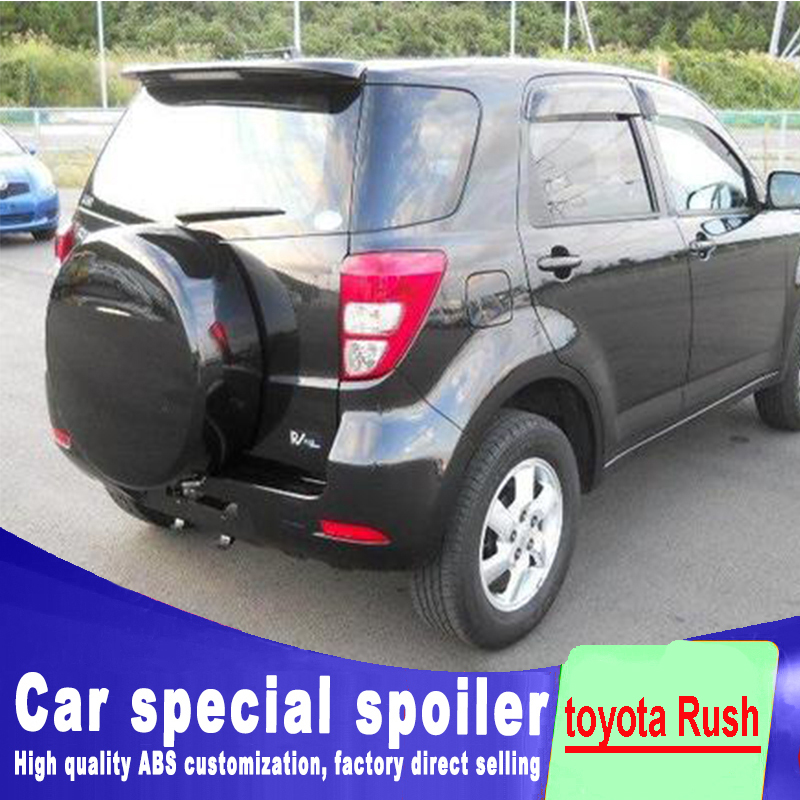For toyota Rush spoiler 2007 2008 2009 2010 2011 2012 2013 high quality ABS Primer Rear window Spoiler by primer or DIY paint