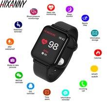 Женские Мужские Смарт-часы водонепроницаемые спортивные для IOS умные часы для телефона на Android монитор сердечного ритма функции кровяного давления PK IWO