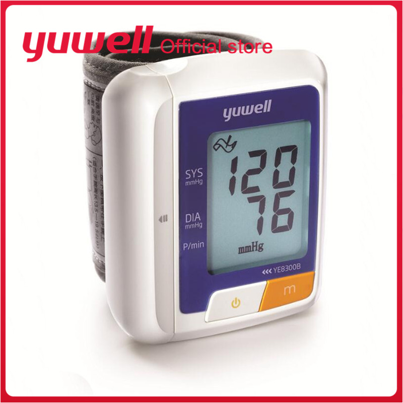 Yuwell YE8300B Household Blood Pressure Monitor Automatic Digital LCD Display Wrist Blood Pressure Measurement Health Care Tool(China)