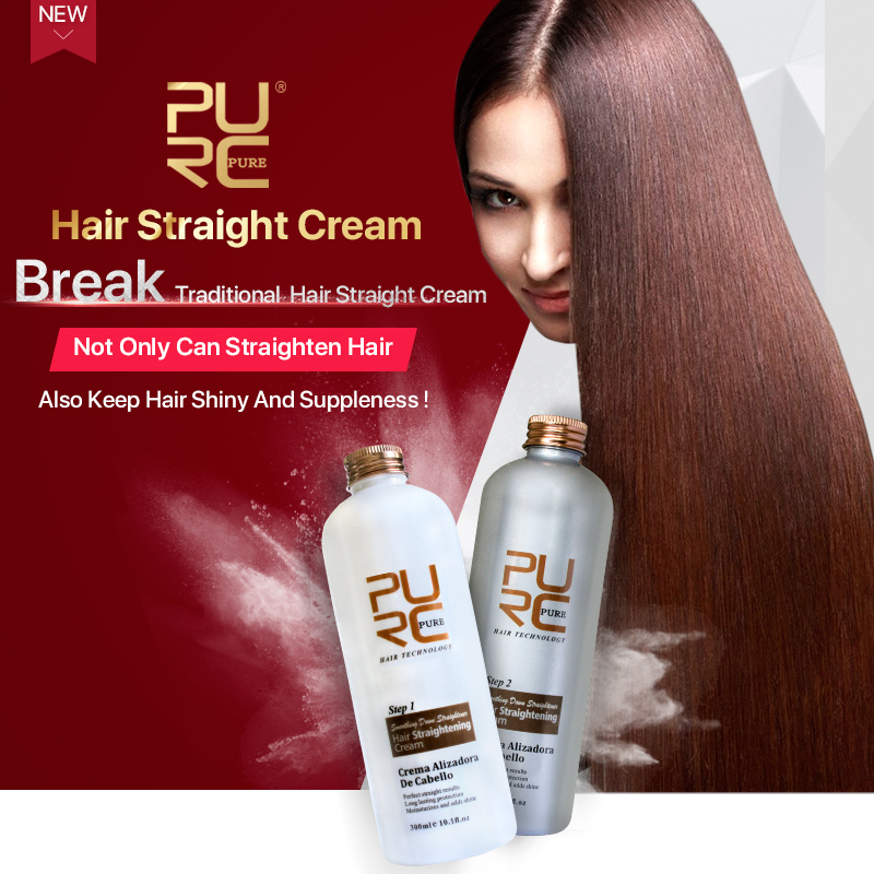 PURC hairstyles beauty hair style accessories products P61 300ml softener and styler hair care straightener set 1x purc 12