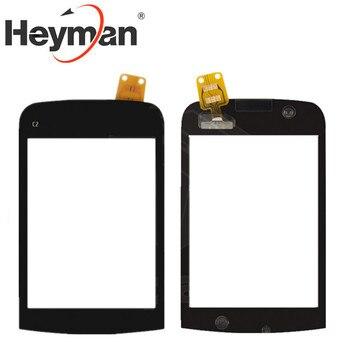 Перейти на Алиэкспресс и купить Heyman сенсорный экран для Nokia C2-02, C2-03, C2-06 дигитайзер стеклянная панель передняя стеклянная линза