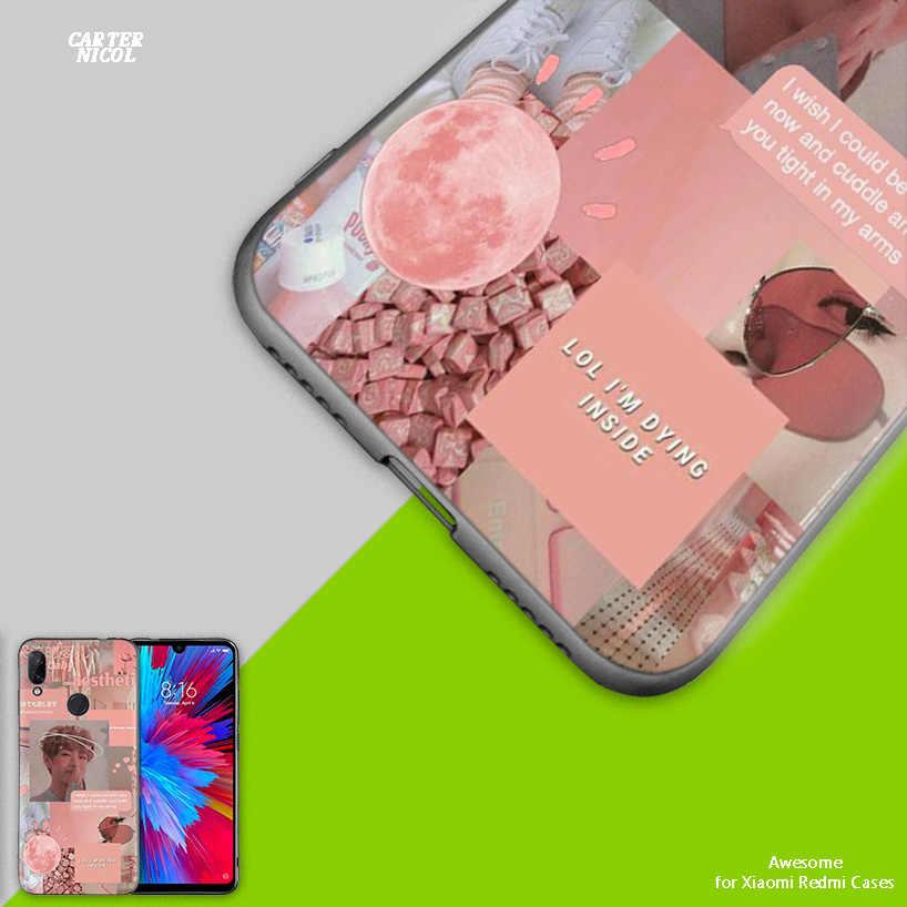 Розовый эстетический силиконовый чехол для Xiao mi Red mi Note 7 7A 7S K20 Y3 6 6A S2 GO 5X 6X mi A1 A2 8 9T Play Lite Pro Poco F1