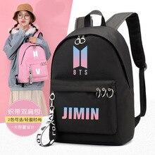 Купить с кэшбэком Kpop Bt21 Bts Backpack School Bags For Teenage Girls Bangtan Boys Print bts JUNG KOOK JIMIN Travel Bags Shoulder Laptop Backpack