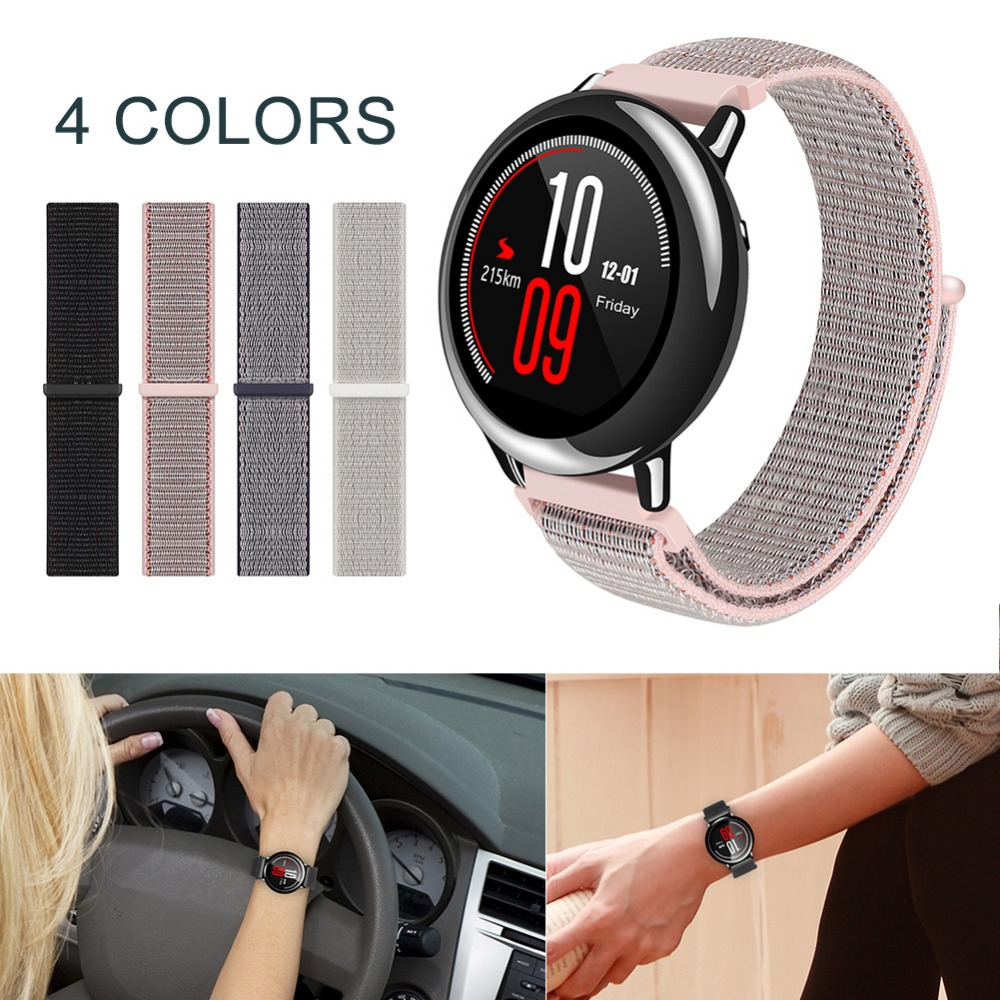 For AMAZFIT Huami Mi Youth Sports Watch Woven Nylon loop band Replacement Soft Wrist Strap For Huami Amazfit Smartwatch