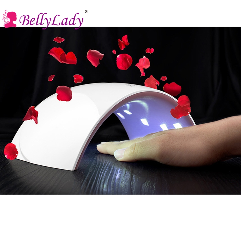 BellyLady Lampe UV LED 24W Professional UVLED Lamp Nail Dryer Polish Machine for Curing Nail Gel Art Tool new pro 48w nail lamp manicure dryer fit uv led builder gel all nail polish nail art tools sun5 professional machine