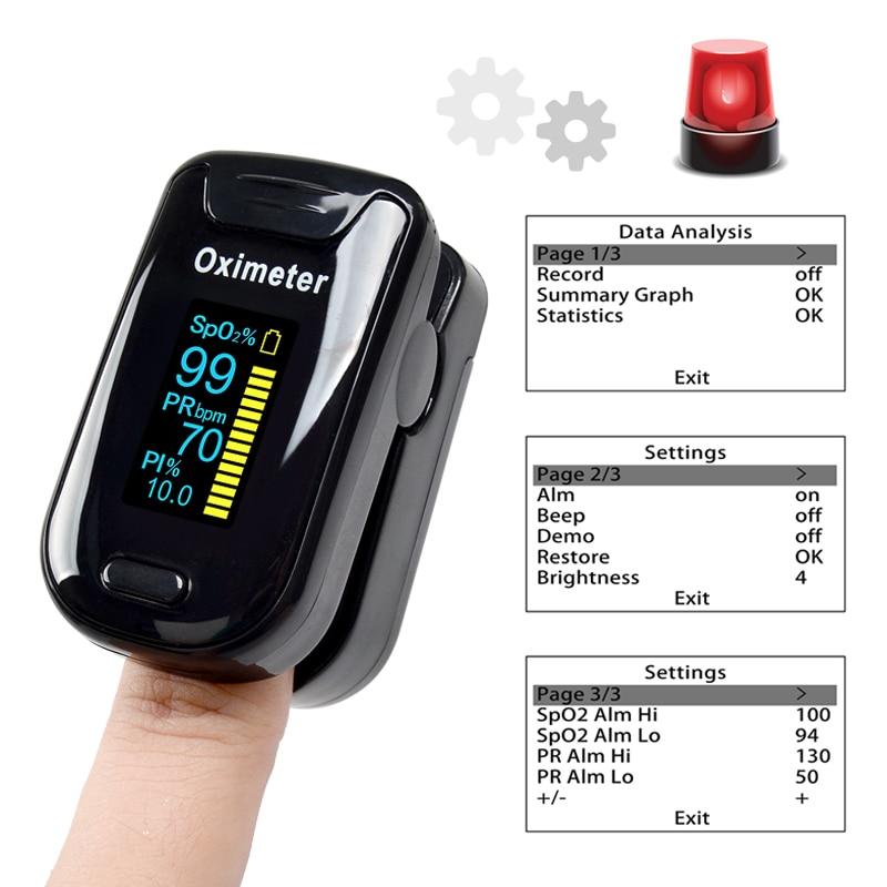 ELERA Oximetro De Dedo Finger Pulse Oximeter Blood Oxygen Saturometro SPO2 PR Oxymeter De Pulso Portable Saturator Pulsioximetro 1