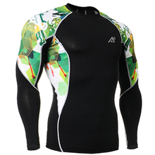 Muscle Mens Fitness Tight T shirt Compression Base Layer Breathable Shirts Men s Long Sleeves Tees