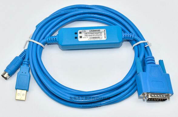 USB-AFP8550 PLC Programming Cable  for  FP1 FP3 FP5 Series / PLC Programming Cable / USB to rs422 adapter for NAIS professional integrity plc programming cable usb fbs seconds