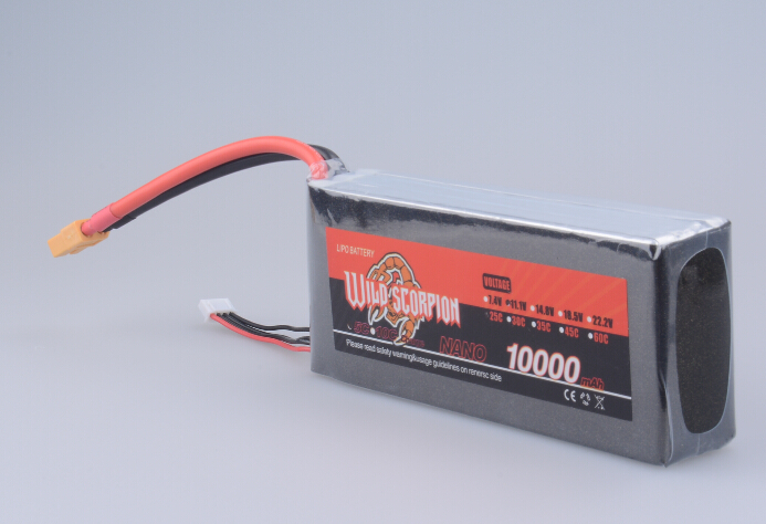 1pcs Wild Scorpion Lipo Battery 11.1v 10000mah 25c - 40c 3S1P 300A Continuous Discharge For RC Quadcopter Drone Helicopter Car A стоимость