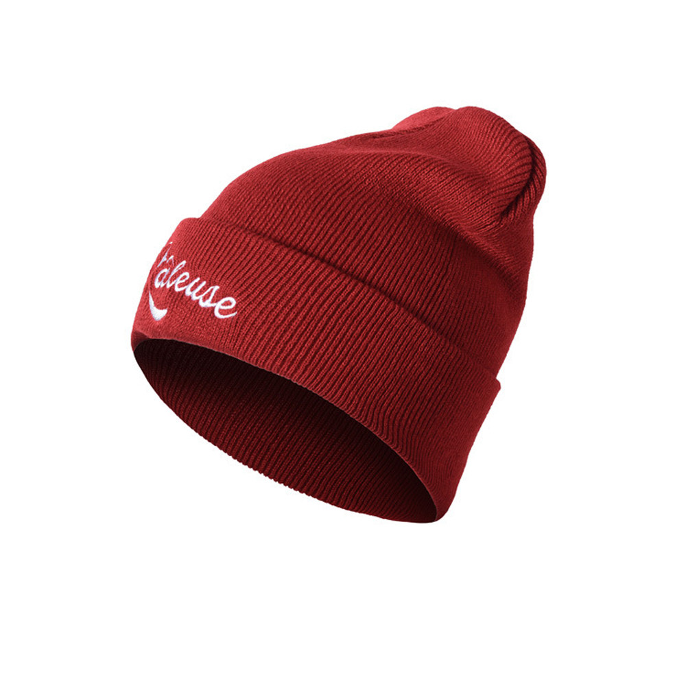784e5c855 US $2.56  Hot Caps Unisex Bad Wolf Letter Embroidery Fashion Keep Warm Wool  Knitted Earmuffs Beanies Hats Caps For Men Women Cc Beanies #0-in Skullies  ...