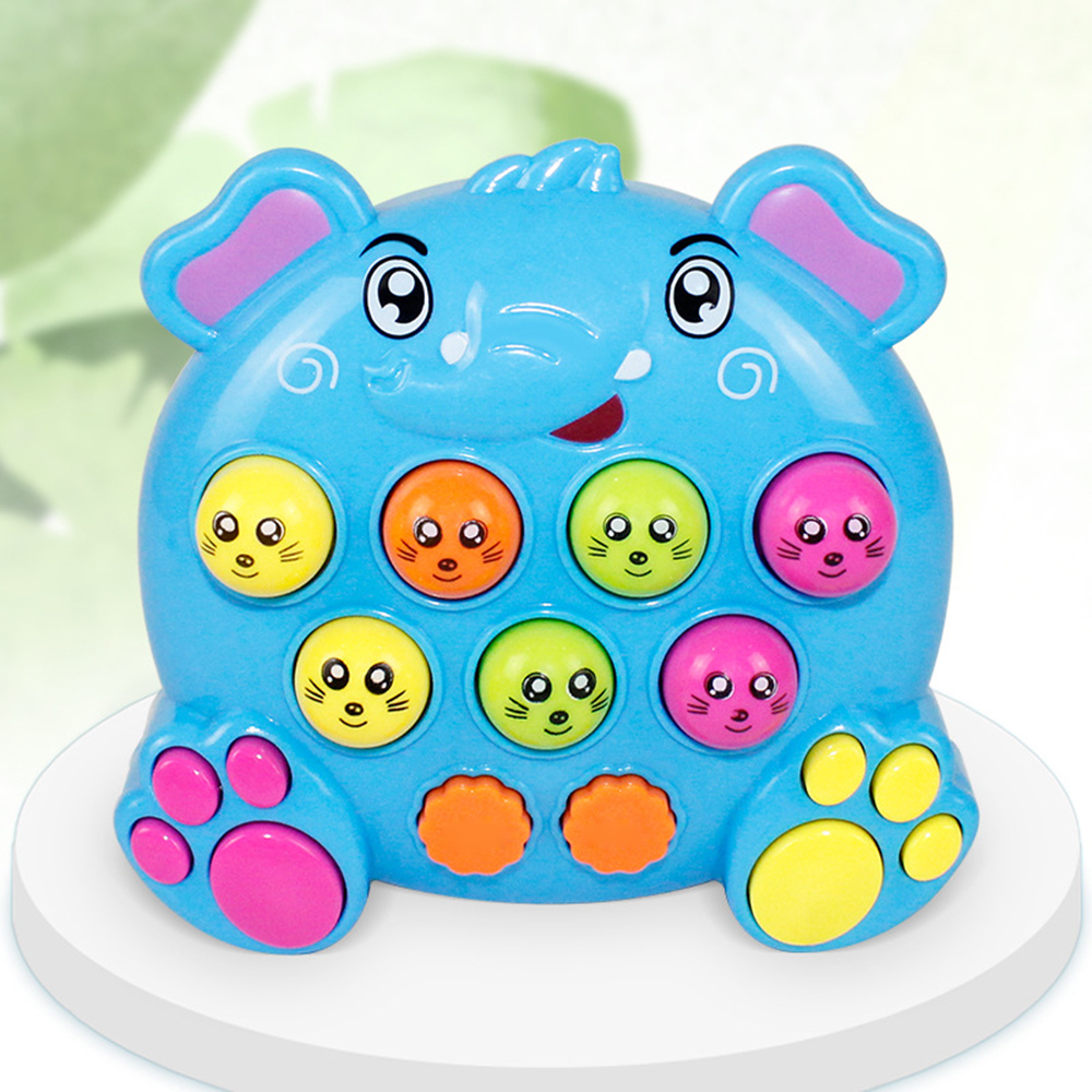 1Pc Cute Sparkling & Musical Electric Educational Toy Whack A Mole Hit Hamster For Infant Baby Children Musical Toys Funny Game