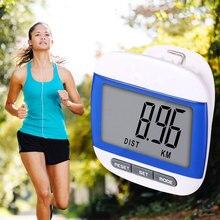 Шага движение калорий жк-цифровой шагомер счетчик красочные многофункциональный водонепроницаемый