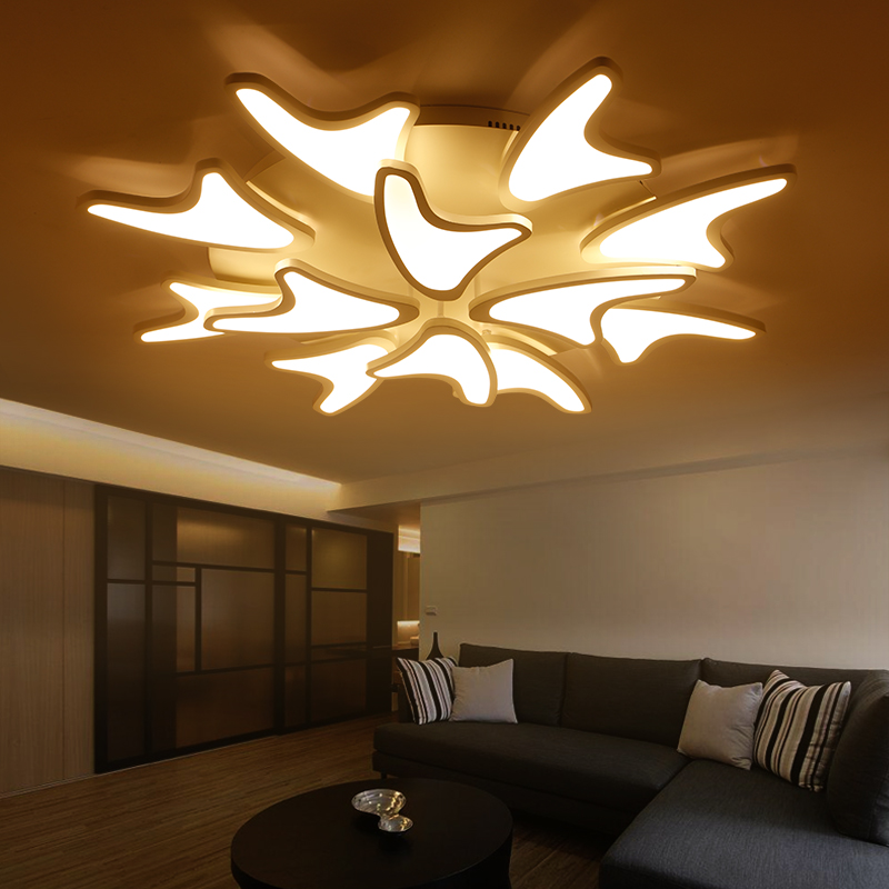 Creative White Acrylic 3/5/9/12 Heads DIY Led Ceiling ...