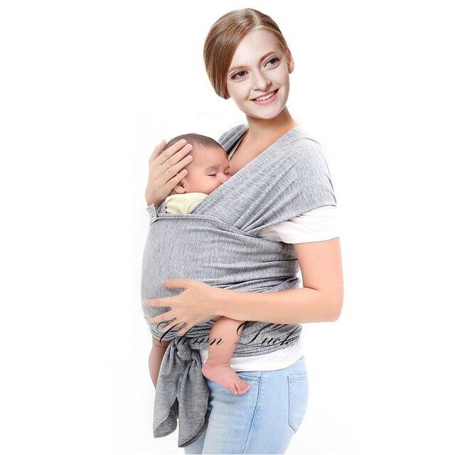 Дышащая Эргономичный Кенгуру Для 0-3Y Детские Слинг Hipseat Мягкой Натуральной Wrap Перевозчик Рюкзак Слинг с Кольцами Младенческой Обертывание